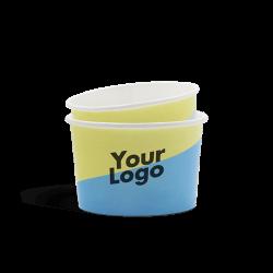 Coppette gelato biodegradabili a stampa digitale