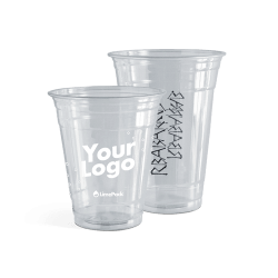 Bicchieri di plastica stampa a 1 colore